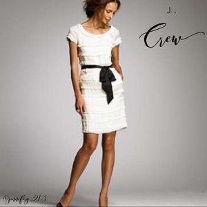 J.Crew Factory Cotton-Silk Shimmy Dress Ivory s10